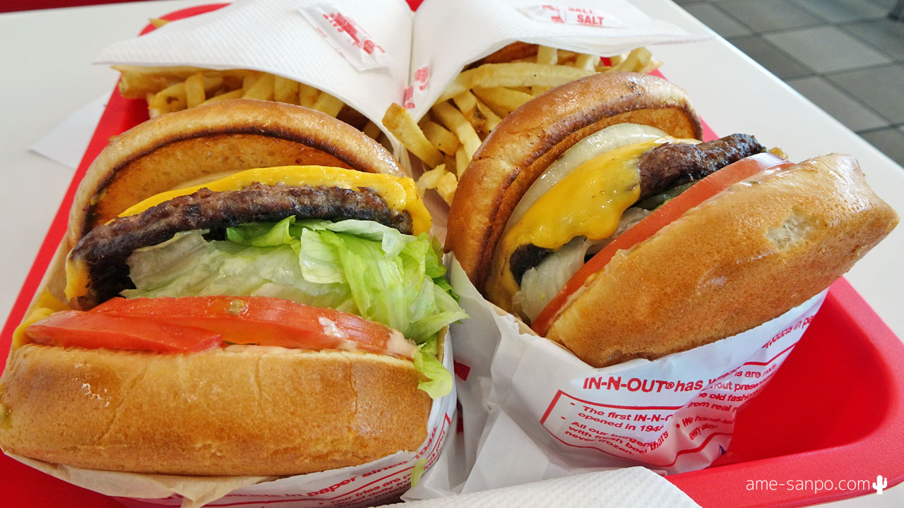 IN-N-OUT BURGER で朝食 in サウザンド・パームズ