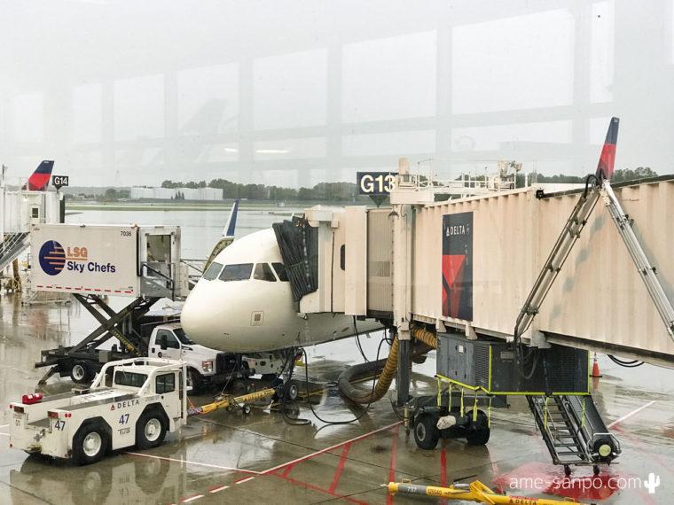 デルタ航空 MSP-LAX