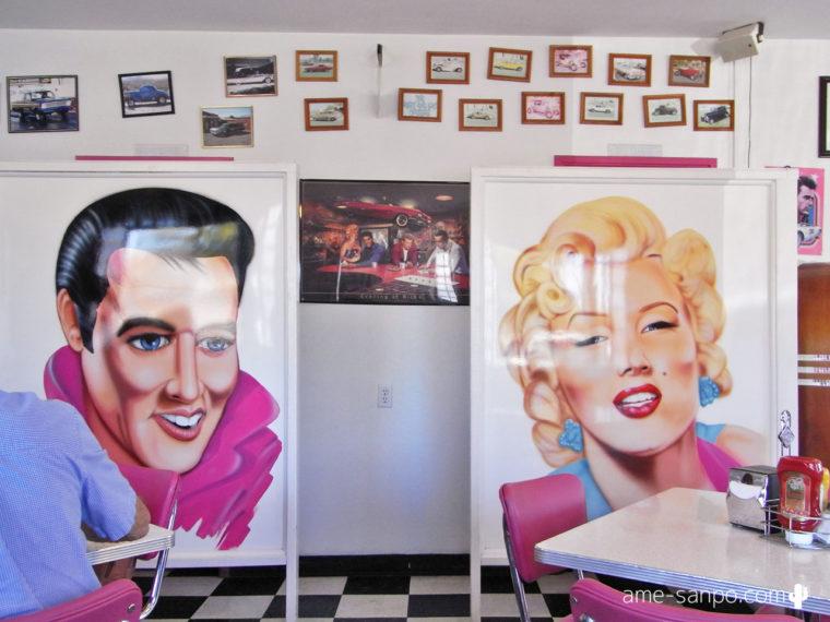 Mr. D'z Route 66 Diner プレスリー&モンロー
