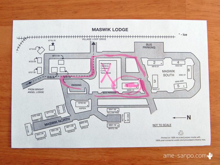 マスウィックロッジ敷地内マップ