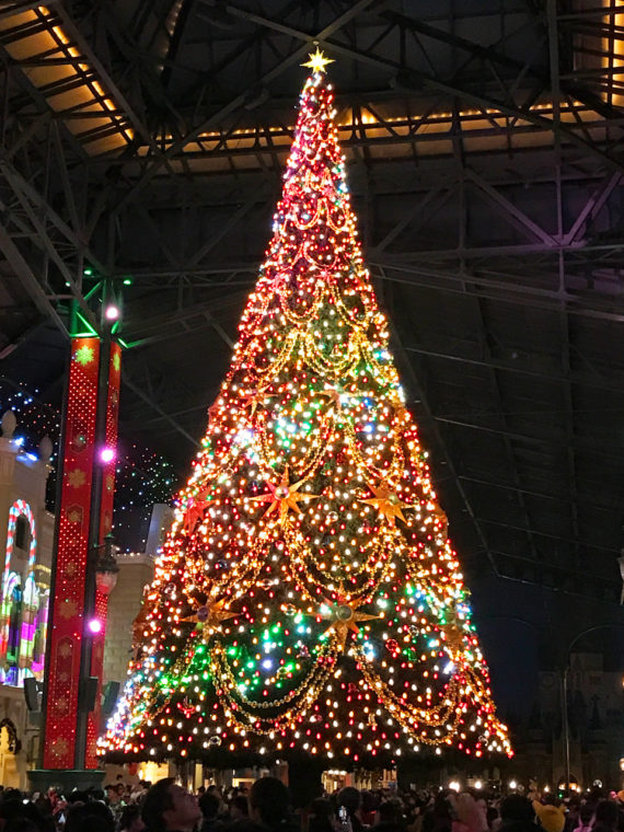 TDLワールドバザール クリスマスツリー