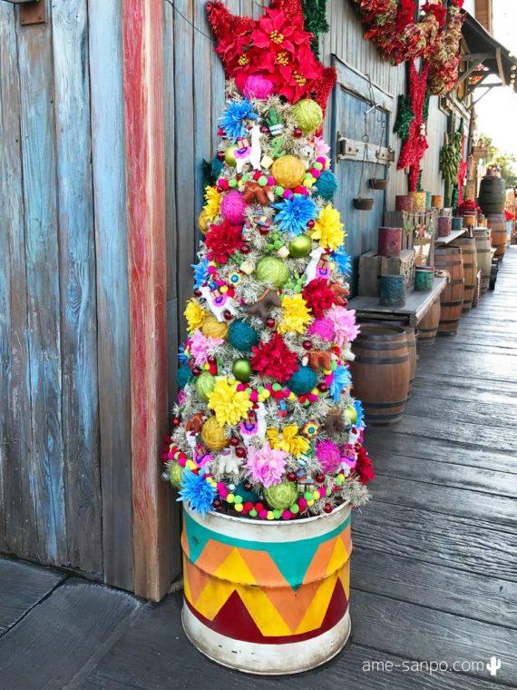ミゲルズ・エルドラド・キャンティーナのクリスマスツリー